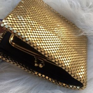 Vintage Whiting & Davis Co. gold mesh wallet